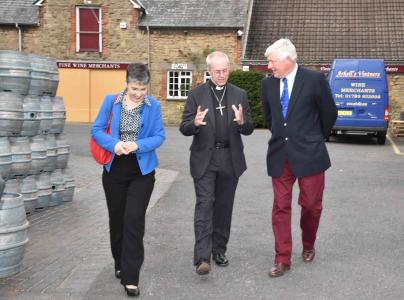 Mrs Welby, Archbishop Justin & James Arkell2 lr.jpg