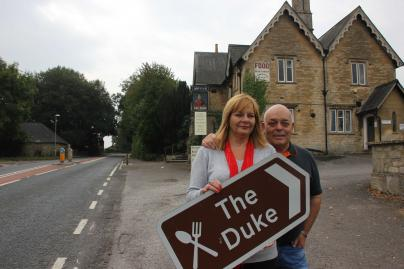 Lesley & John Williams at The Duke, Hilmarton.jpg
