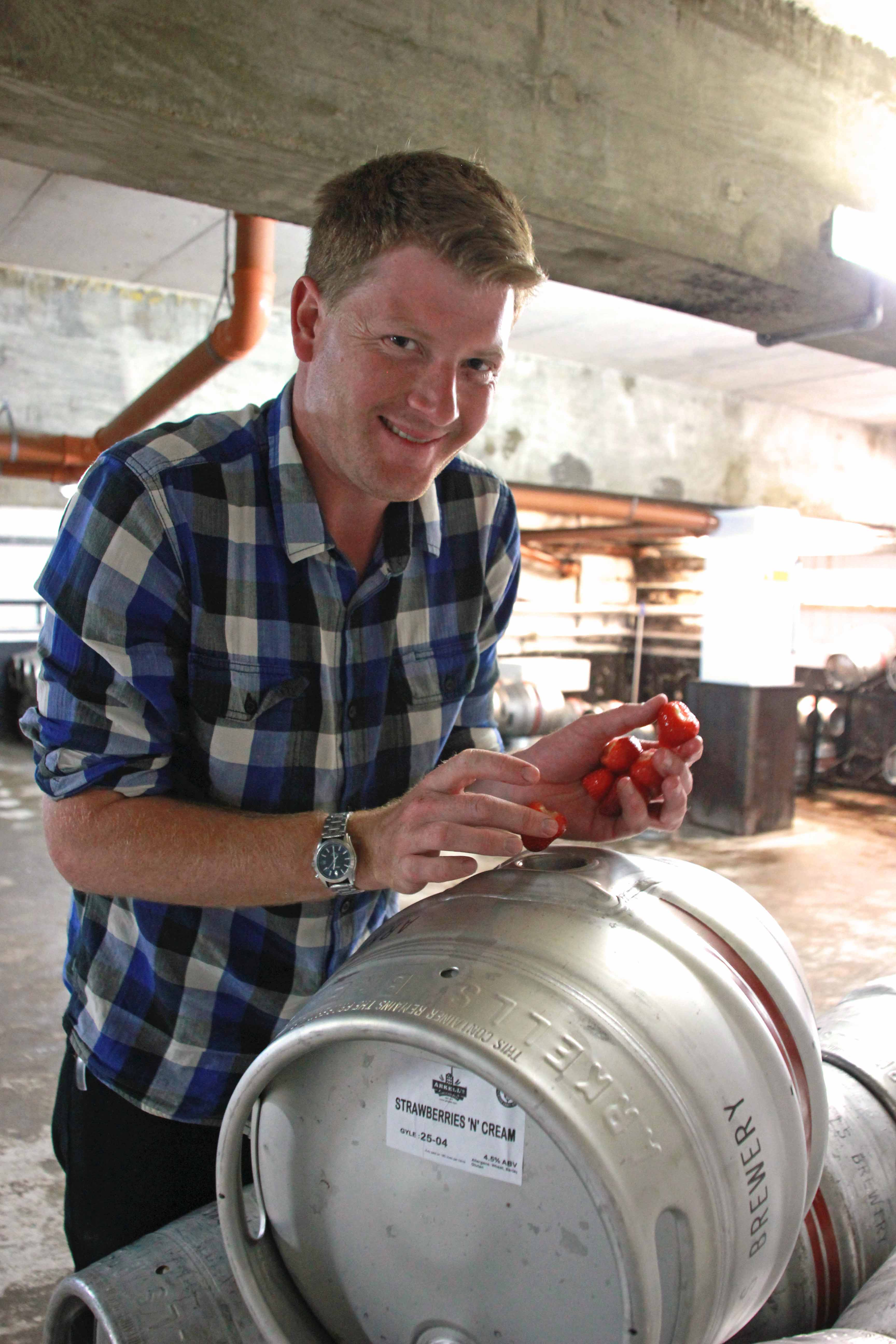 Ales Arkell & Strawberries n Cream beer.JPG